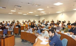 Experiential learning module of the MBA programme includes panel discussions with industry leaders